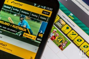 Betting application on smartphone